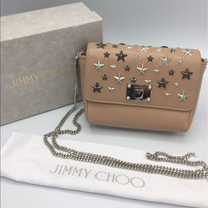 Jimmy Choo Leather Mini Metal Star Convertible Bag